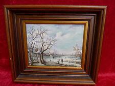 bello ,vecchio dipinto__Animato Paesaggio invernale __grassi juenker__