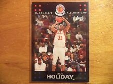 JRUE HOLIDAY 2007-08 TOPPS MCDONALD'S ALL AMERICAN ROOKIE RC PELICANS 76ERS UCLA
