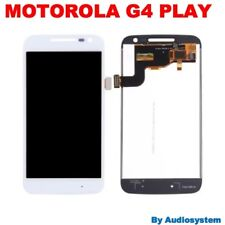 DISPLAY LCD+TOUCH SCREEN PER MOTOROLA MOTO G4 PLAY BIANCO XT1604 VETRO 1607 1609