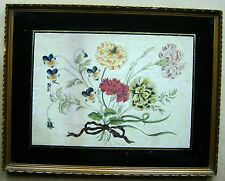 CHINESE A FLORAL BOUQUET WATERCOLOUR ON 18THC LAID PAPER CIRCA 1820