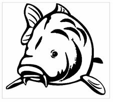 """Fishing Sticker Fisherman Decal """"Carp"""" available in any colour"""