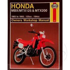 Honda MTX 125 RW 1990 Haynes Service Repair Manual 1132