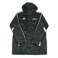 Vintage ADIDAS Hooded Coat | Insulated Retro Jacket 90s Padded Quilted