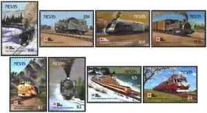 Timbres Trains Nevis 601/4 606/9 ** (47545AI) - cote : 27 €