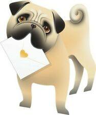Pug Dog 3D Special Delivery Animal Greeting Card Blank Own Message Cards