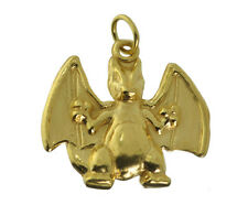Charizard Pokemon full evolved Charmander 24K Gold Plated Solid charm Jewelry