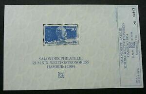 [SJ] Germany Heinrich von Stephan 75th 1949 1984 (souvenir sheet MNH *reproduct