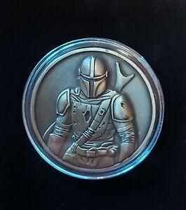 The Mandolorian coin badge star wars.
