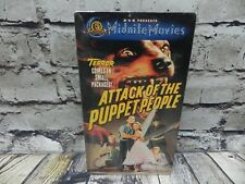 SEALED HALLOWEEN- VHS 1958 ATTACK OF THE PUPPET PEOPLE 1 Hr. 19 Min. B&W