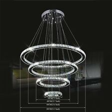 3 Tiers Luxury Rings Modern LED Crystal Chandelier Ceiling Pendant Lighting Lamp