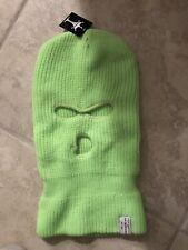 Top Headwear 3 Hole Knitted Cap Hat Ski Face Winter Snow Mens Womens Neon Green