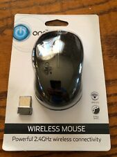 ONN Wireless Black Mouse 2.4GHz Wireless Connectivity With Batteries New Sealed