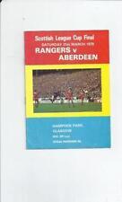 Teams A-B Final Football Scottish Fixture Programmes (1970s)