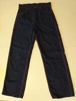Vtg 40s 50s BLUE BELL Big Ben Dungarees Dark Indigo Denim Work Pants Jeans 30x31