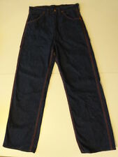 Vtg 40s 50s Blue Bell Big Ben Dungarees Dark Indigo Denim Work Pants Jeans 30x31