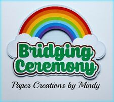 CRAFTECAFE MINDY GIRL SCOUTS BRIDGING premade paper piecing TITLE scrapbook