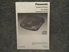 Panasonic Portable Compact Disc CD Player SL-S150 Operating Instructions Manual