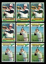 1976 & 1977 TOPPS BROOKS ROBINSON BASEBALL LOT OF 9 NM *232371