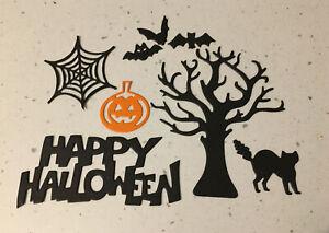 32 die cuts - happy halloween, Bats, pumpkins Trees & Cats 4 Sets Of 1st Pic