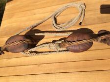 palan poulies bois anciennes bateau marine bateau vintage loft block pulley