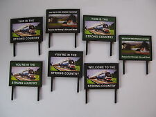 The Strong Country Billboards - OO Gauge 4mm - Model Railway - Trackside Signs