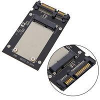 """Mini pcie PCI-E mSATA SSD to 2.5"""" SATA Convertor mSATA-SATA Adapter Card Black"""