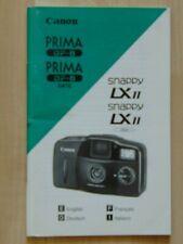 Gebrauchsanleitung Canon Prima BF-8 (Date)Snappy LX II (Date)