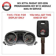 KEY PROGRAMMING FOR VW JETTA, PASSAT 2011-2016 BY INSTRUMENT CLUSTER IC MODULE