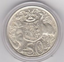 "1966 "" 50 Cent ""  SILVER ROUND FIFTY Cent  In a capsule Nice CONDITION"