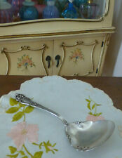 Reed & Barton TIGER LILY Pierced Pea Spoon July 9 1901 8.25 Inches Silver Plate