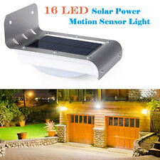 3.7V 16 LED Solar Power Motion Sensor Garden Security Outdoor Waterproof Light