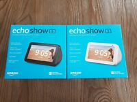 NEW Introducing Echo Show 5 Compact smart display w/ Alexa - Black/ White