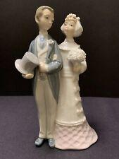 Vintage Retired Lladro Bride & Groom Wedding Figurine 4808 Cake Topper Spain