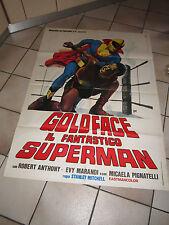MANIFESTO, GOLDFACE IL FANTASTICO SUPERMAN, MITCHELL 2F