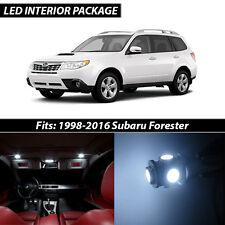 1998-2016 Subaru Forester White Interior LED Lights Package Kit