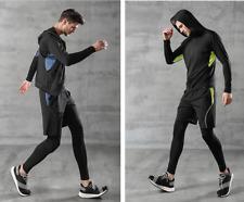Herren Sportanzug Jogginganzug 5-Teiler Funktions Shirt kurzarm langarm Laufhose