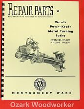 MONTGOMERY WARDS Powr-Kraft Metal Lathe Part Manual 0477