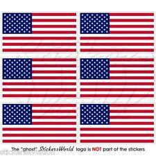 USA STATI UNITI D'AMERICA FLAG 40 mm Mobile Cellulare Mini Adesivi-Decalcomanie x6