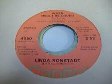 Rock 45 LINDA RONSTADT When Will I Be Loved / It Doesn`t Matter Anymore
