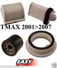 AIR BOX KIT TAGLIANDO X CARENE FILTRO 4 FILTRI ARIA OLIO YAMAHA TMAX T MAX 01/07