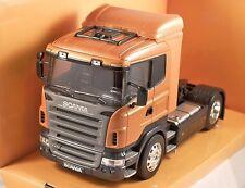 SCANIA R470 in Dark Orange Metallic 1/32 scale model by WELLY *Squashed Box!*