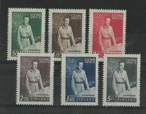 Finland 1941 Marshal Mannerheim Mint Set