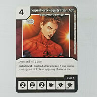 x1 Superhero Registration Act Basic Action Card Marvel Dice Masters Singles