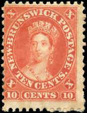 Mint H Canada New Brunswick 1860 10c VG-F Scott #9 Queen Victoria Stamp