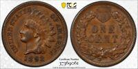 1892 1C PCGS AU55 Indian Cent (Not labeled Die Clash) RicksCafeAmerican.com