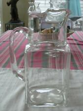 JACK DANIELS DISCONTINUED CLEAR GLASS WATER PITCHER