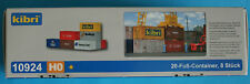 Container 20-Fuß-  8 St. / Kibri Bausatz //Spur H0