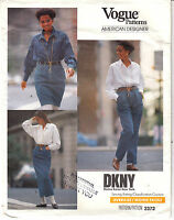Vogue DKNY Tapered Skirt Pleated Pants Sewing Pattern 2372 Uncut 6-8-10 Uncut