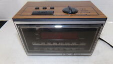 GE 7-4620D Teak Finish Vintage Alarm Clock AM/FM Radio SHIPS FREE!