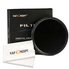 77mm Slim ND2 To ND400 Fader Variable ND adjustable Lens Filter K&F Concept